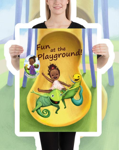 Ladi Liz & Cam, Fun at the Playground! Kids Poster, Children's Poster
