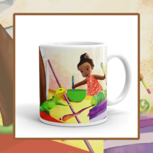 Ladi, Liz & Cam, Let's Bake! Children's Ceramic Mug