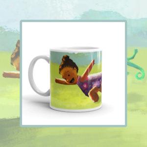 Ladi, Liz & Cam, Ladi & Cam Running, Children's Ceramic Mug